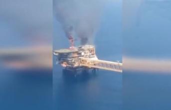 Petrol çıkarma tesisinde şiddetli patlama!
