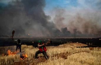 YPG/PKK işgalindeki bölgeler yanıyor