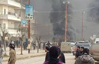 Afrin'de bomba yüklü tanker patladı! Ölü ve yaralılar var
