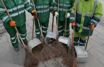 Çankaya'da temizlik işçileri gece yarısı iş bıraktı