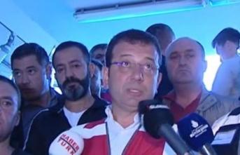 İBB Başkanı İmamoğlu'ndan sel açıklaması