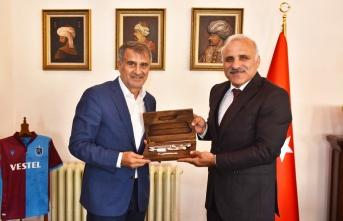 Şenol Güneş'ten Başkan Zorluoğlu'na ziyaret