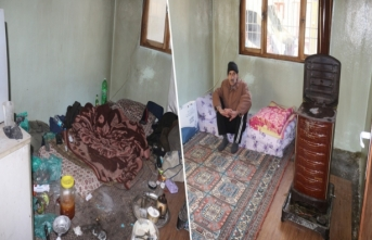 Gaziantep Büyükşehir Belediyesi bakımsız kalan evi temizledi