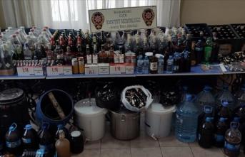 Kırklareli'nde sahte içki operasyonu kapsamında 9 şüpheli gözaltına alındı