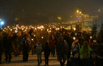 10 bin kişi 'Sarıkamış şehitleri'ni anmak için yürüdü