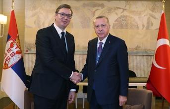 Cumhurbaşkanı Erdoğan, Vucic ile görüşüyor