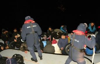 78 düzensiz göçmen kurtarıldı!