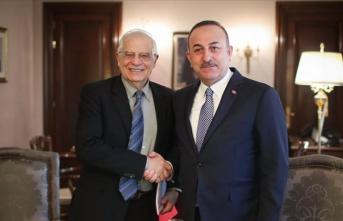 Çavuşoğlu, AB Temsilcisi Borrell ile görüştü