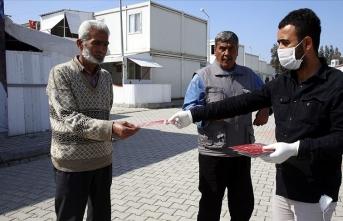 Sığınmacıların kaldığı geçici barınma merkezlerinde koronavirüs tedbirleri