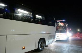 Hollanda'dan getirilen 349 Türk vatandaşı Tokat'ta yurda yerleştirildi