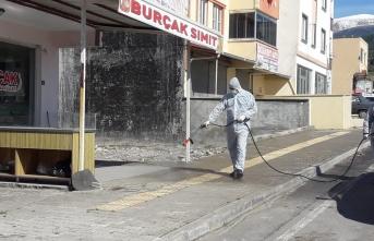 Kahramanmaraş'ta cadde ve sokaklar dezenfekte ediliyor
