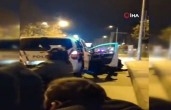 İstanbul'da polislerin ölümden döndüğü silahlı çatışma kamerada