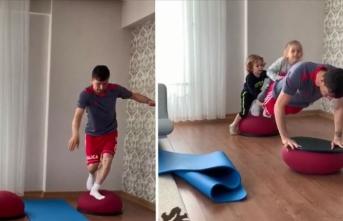 Sivassporlu futbolcular evinde çalışıyor