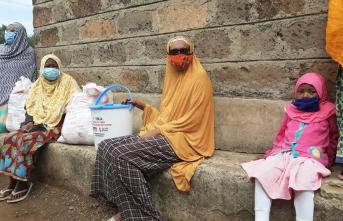Kenya'da karantina altındaki mahalleye ilk yardım TİKA'dan