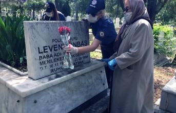 Şehit annemizin dileğini polis evlatları yerine getirdi