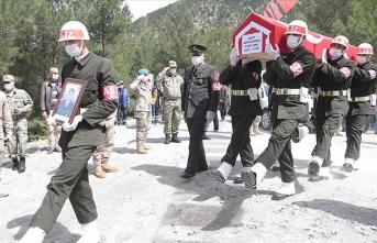 Şehit Piyade Uzman Onbaşı Gündeş son yolculuğuna uğrulandı