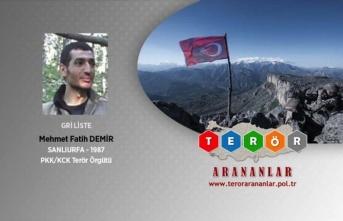 Tunceli'de etkisiz hale getirilen terörist gri listede