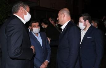 İçişleri Bakanı Soylu Barış Çakan'ın ailesini ziyaret etti