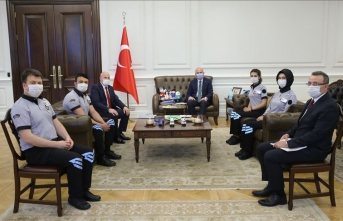 İçişleri Bakanı Soylu özel güvenlik görevlilerini kabul etti