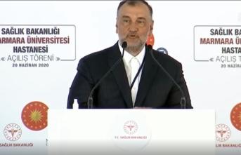 Murat Ülker, Prof. Dr. Asaf Ataseven Hastanesi'nin açılışında konuştu