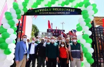 Beyoğlu'nda Fetihtepe Mahalle Bahçesi hizmete açıldı