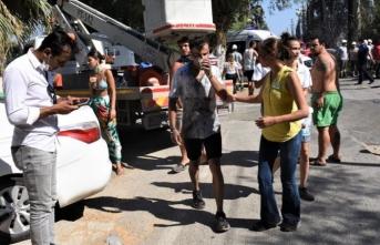 Bodrum'da turistik tesislere sıçrayan yangında 15 kişi yaralandı