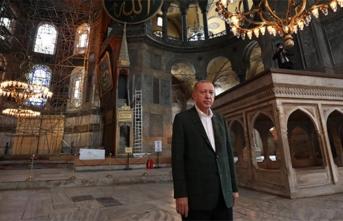 Erdoğan'dan Ayasofya'ya sürpriz ziyaret!
