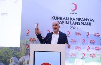 Kızılay'dan Kurban'da 4 milyondan fazla insana yardım planlaması