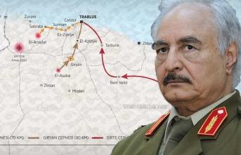 Hafter'in yeni şovu: Bir avuç askerle Türkiye ve Erdoğan'ı tehdit etti