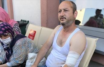 Olay anını anlattı: Patlama ilk vurduğu zaman beni 10 metre fırlattı