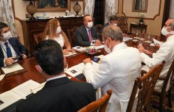 Bakan Çavuşoğlu, Dominik Cumhuriyeti Cumhurbaşkanı ile görüştü