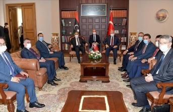 TBMM Başkanı Şentop, Libya Yüksek Konsey Başkanı Mişri ile görüştü