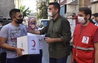 Türk Kızılay yardımlarıyla Lübnanlıların gönüllerini fethetmeye devam ediyor