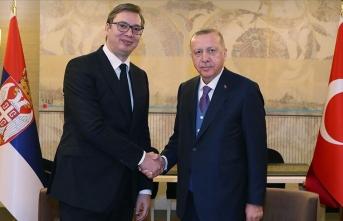 Erdoğan ve Sırbistan Cumhurbaşkanı Vucic bir araya geldi