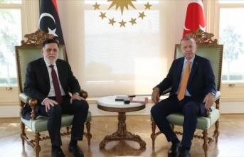 Cumhurbaşkanı Erdoğan, Libya Başbakanı Serrac'ı kabul etti