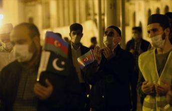 Ermenistan'ın öldürdüğü siviller için gıyabi cenaze namazı kılındı