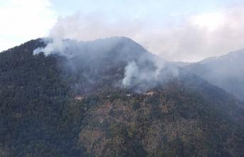 Karabük'teki ormanlık alanda yeniden yangın çıktı