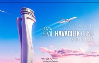 Fuat Oktay'dan 7 Aralık Sivil Havacılık Günü için mesaj
