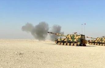 Katar'la ortak fırtına obüs topçu atışları icra edildi