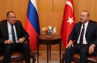 Mevlüt Çavuşoğlu, Rus mevkidaşı Lavrov görüştü
