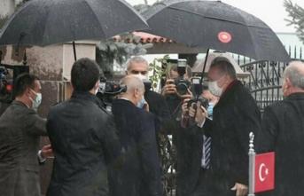 Bahçeli, Cumhurbaşkanı Erdoğan'ı kapıda karşıladı: İlk kareler