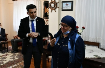 Bakan Soylu'dan şehit Aybüke Yalçın'ın ailesiyle görüştü