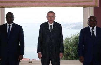 Erdoğan, Embalo ve Sall ile görüştü