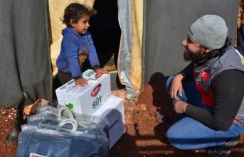 İdlib'e sel Yardımı