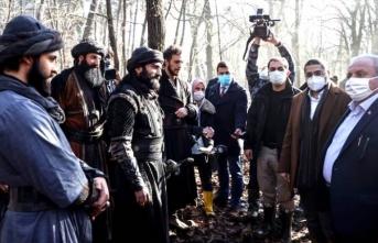 Mustafa Şentop'tan Büyük Selçuklu dizi setine ziyaret