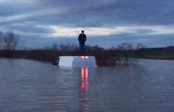 Nehir taştı: AFAD onu bu şekilde buldu