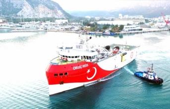 Oruç Reis gemisi Antalya'da