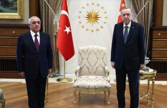 Cumhurbaşkanı Erdoğan Asadov ile görüştü