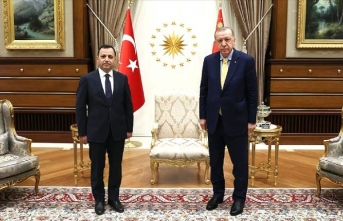 Erdoğan Anayasa Mahkemesi Başkanını kabul etti