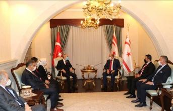 TBMM Dışişleri Komisyonu KKTC Cumhurbaşkanı Ersin Tatar ile görüştü